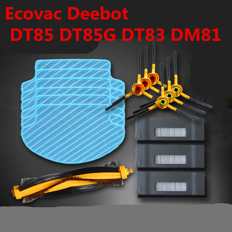 26pcslot for Ecovac Deebot DT85 DT85G DT83 DM81 main brush Hepa filter side brush mop cloth magic paste vacuum cleaner parts