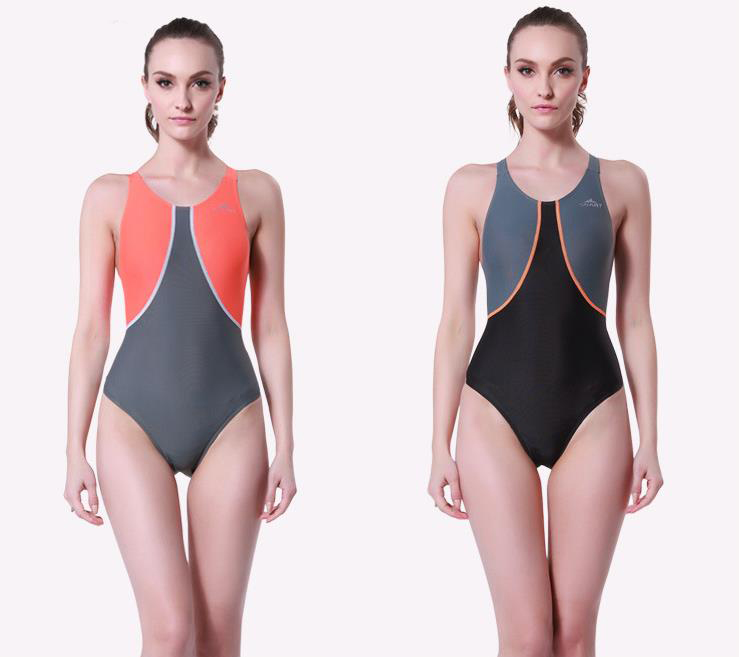 Sport Blue Patchwork Monokini Swimsuits Backless Әйелдер - Спорттық киім мен керек-жарақтар - фото 1