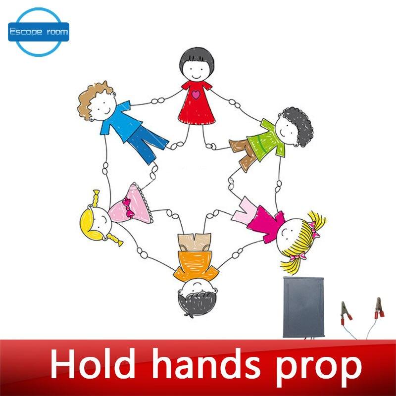 Escaperoom játék kellékek tartsa kéziszerszámok élő kézzel - Ünnepi és party kellékek