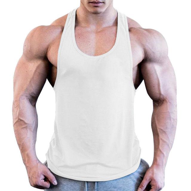 Men Sport Gym Workout Fitness Stringer Weight Loss Singlets Vest Shirt Breathable Male Running T-Shirt Sport Shirt 5