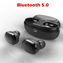 TWS Bluetooth Earphone Mini Bluetooth 5.0 Headset Double Wireless Earbuds Cordless Sports Earbuds Gaming Headset Phone(China)