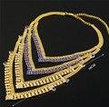 Moda india mulheres colar banhado a ouro conjuntos de jóias de alta qualidade africano conjuntos de jóias grandes