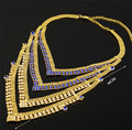 fashion india women necklace gold plated jewelry sets high quality african big  jewelry sets