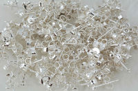 100pairs silver925 FOY DIY earrings FPPJ wholesale nature beads