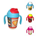 300ml Baby Cups Kids Bamboo fiber straw cup BPA free Portable Bottle Cartoon infant drinking water bottle training cup