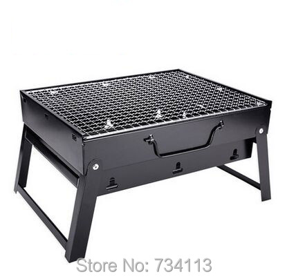 e75541a46fe Big size BBQ Folding Picnic Grill Family style Portable Garden Charcoal  barbecue Grill Broiler Outdoor CookingTool 43 29 24cm