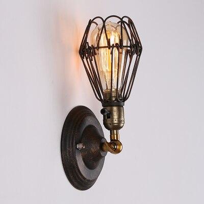Dəmir qəfəs asqı İşıq + ST64 Edison ampüller Amerika ölkəsi - Daxili işıqlandırma - Fotoqrafiya 5
