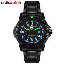 цена на Military Mens Waterproof Watches 50M Water Resistant Back Light Quartz Wrist watch Mans Luminous Sports Watch