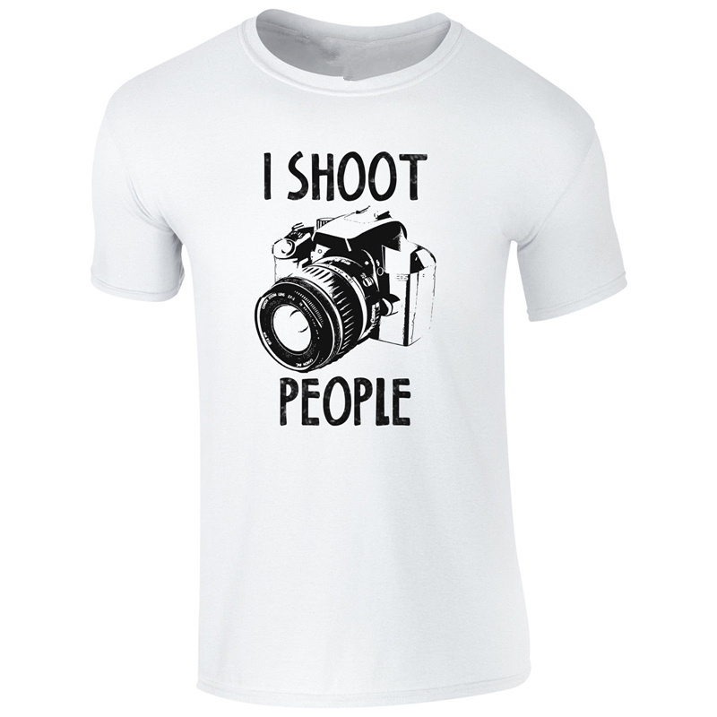 Make Tee Shirts People Funny Photography Camera Pic Photographe O-Neck Short Sleeve Fashion 2018 Tee Shirts For Men