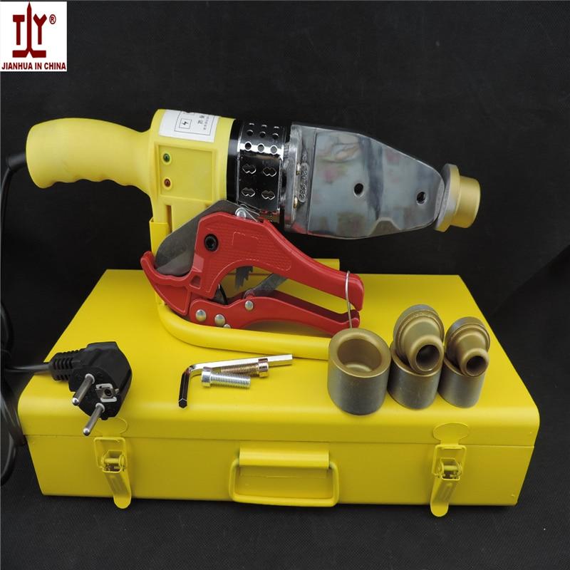 Free shipping thick die head 20-32mm 600W AC 220110V plastic pipe welding machine ppr pe pipe Tube Welder ppr welding Equipment