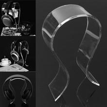 Universal Acrílico Earphone/Headset Cabide Suporte Headphone Carrinho de Exposição da tabela