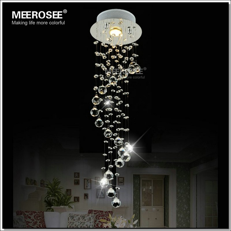 Hot selling Crystal Ceiling Light Fixture / Lamp Spiral Crystal Lamp Cristal Lustre Hallway Corridor Aisle Porch bedroom Light