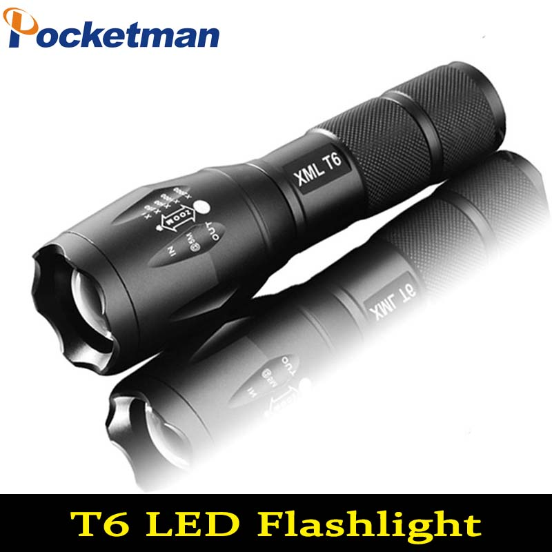 LED Flashlight 6000 Lumens CREE XM-L T6 LED Tactical Flashlight Torch Zoomable Flashlight Torch Lanternas Gladiator Flashlight nitecore srt6 930 lumens cree xm l xm l2 t6 tactical led flashlight black free shipping