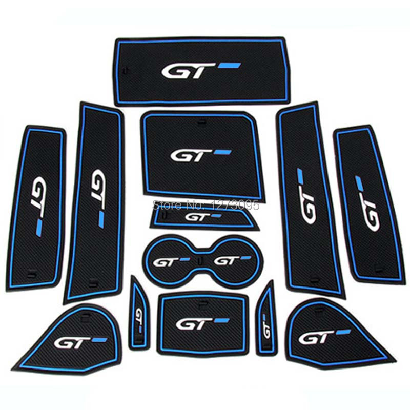 For 2016 2017 2018 Peugeot 3008 5008 GT Inner Gate Slot Pad Non-slip Cup Mats Anti Slip Door Groove Mat Interior Car Accessories 16pcs anti non slip with words in car stickers interior door cup gate slot mat pad groove mat for mazda cx 7 cx7 car styling