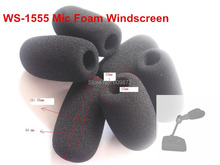 WS-1555 _Microphone Foam Windscreens , microphones covers, 15mm opening &55mm inner length, 10 pcs / lot, Singapore Post