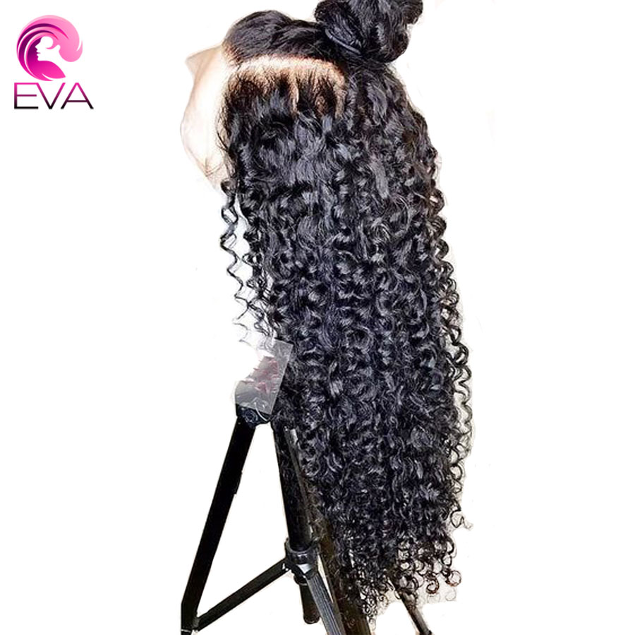 Eva Hair Pre Plucked Full Lace Human Hair Wigs Brazilian Curly Bleached Knots With Baby Hair Remy Hair Wigs For Black Women