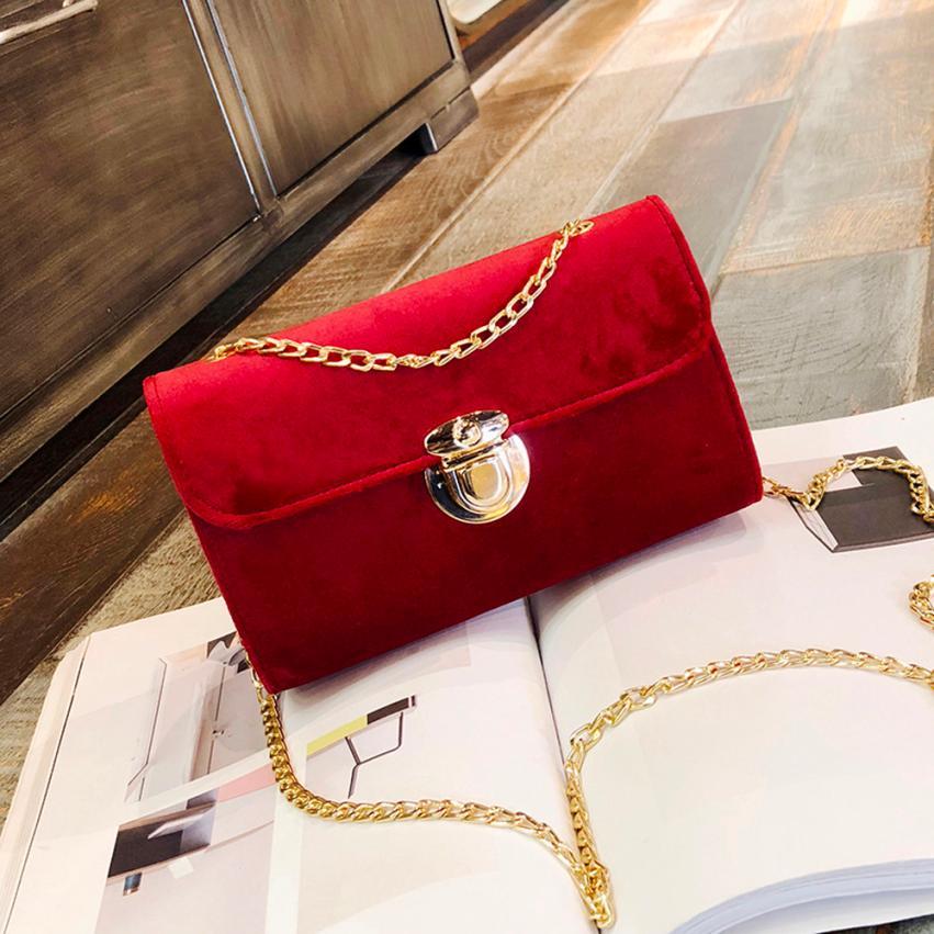 Последняя Мода Женщины Золото Бархат Сумка через плечо сумка женская сплошной цвет крышки небольшой площади сумка