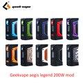 Vape mod GeekVape Aegis mod aegis Legend 200 W TC Box MOD питание от двух 18650 батарей e сигареты без батареи для zeus <font><b>rta</b></font> blitzen