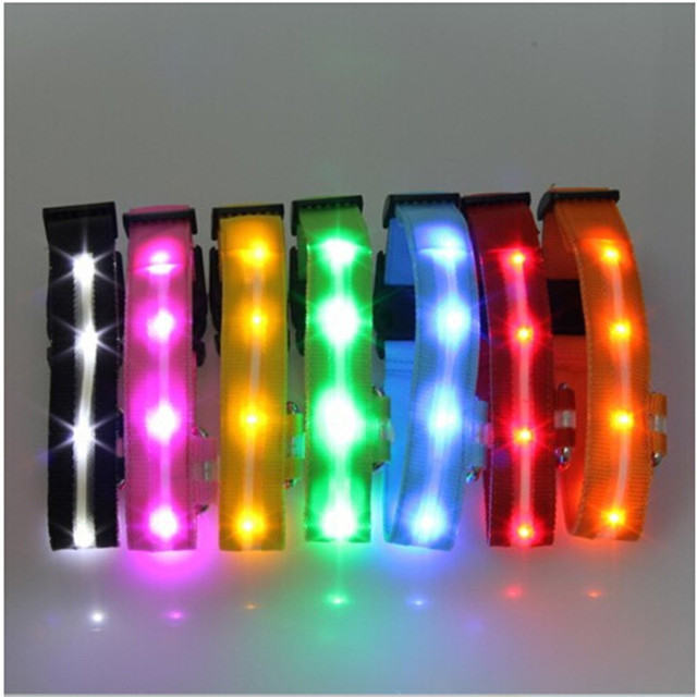 High Quality Pet LED Dog Collar Night Safety LED Flashing Glow LED Pet Supplies Dog Cat Collar Small Dogs Collars For Puppy 1