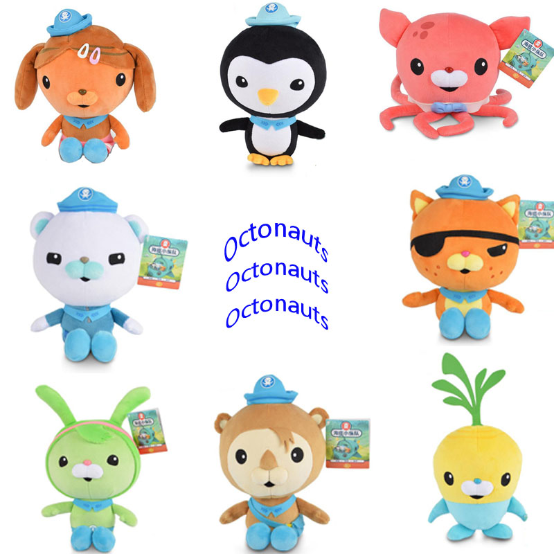 Elsadou Original 30cm Octonauts Plush Toy Doll Barnacles Kwazii Shellington Peso Dashi Inkling 8pcs set the octonauts cartoon action figures kids toys captain barnacles medic peso model children birthday gifts with box