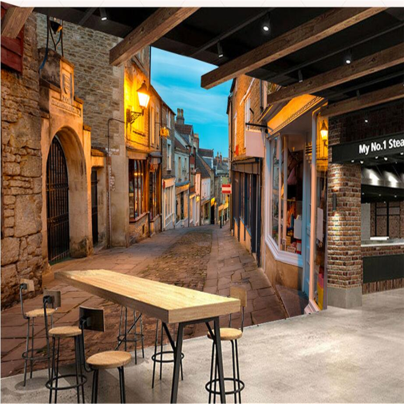 3d Wallpaper Ship Beibehang Custom 3d Wallpaper European Italian Town