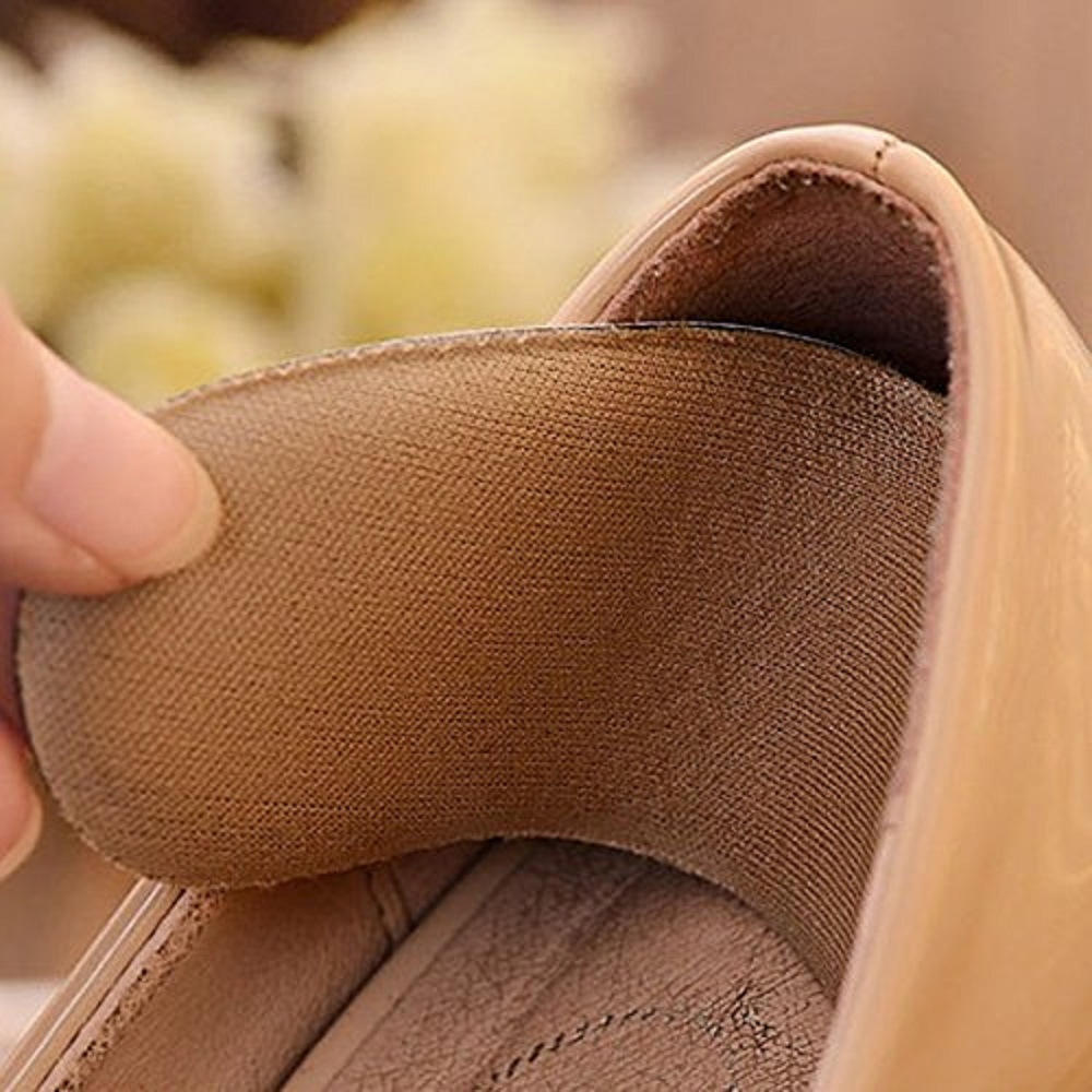1 Pairs Sticky Fabric Shoe Back Heel Inserts Insoles Pads Cushion Liner Grips to Protect Foot