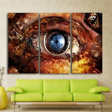 Wall Art Picture Print Abstract Camera Lens Eyes Canvas Painting for Room Decor Steampunk Home Dropship