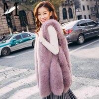 MaoMao Fur QC2002 Natural Real Fur Vest Women Genuine Fox Fur Female Gilet New Fashion Winter Thick Lady Real Fur Vest