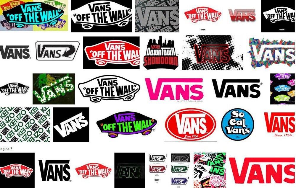 pegatinas de vans of the wall