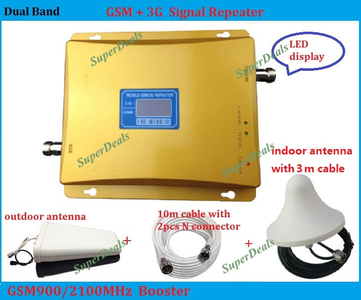 LCD 2G GSM repeater cellular signal booster lte 3G repeater mobile phone signal booster 900MHz and 2100MHz phone amplifier LCD 2G GSM repeater cellular signal booster lte 3G repeater mobile phone signal booster 900MHz and 2100MHz phone amplifier