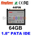 "L Kingspec 1.8"" inch 44PIN PATA IDE SSD Solid State Disk ssd 64GB Hard Drive Laptop For IBM X40 X41 X41T Internal Hard Drives"