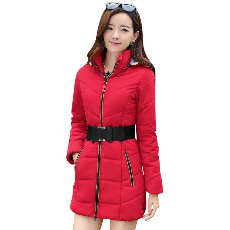 ФОТО 2016 Newest Winter Women cotton coat Thick Warm  Down Cotton Coats Large size Long section loose Parka Hooded overcoat M-4XL