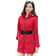 2016 Newest Winter Women cotton coat Thick Warm  Down Cotton Coats Large size Long section loose Parka Hooded overcoat M-4XL