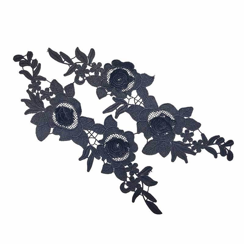 DIY Decoration Accessories 3d Flower Patches DIY Good Quality Embroidery DIY Sewing Dresses Flower Applique