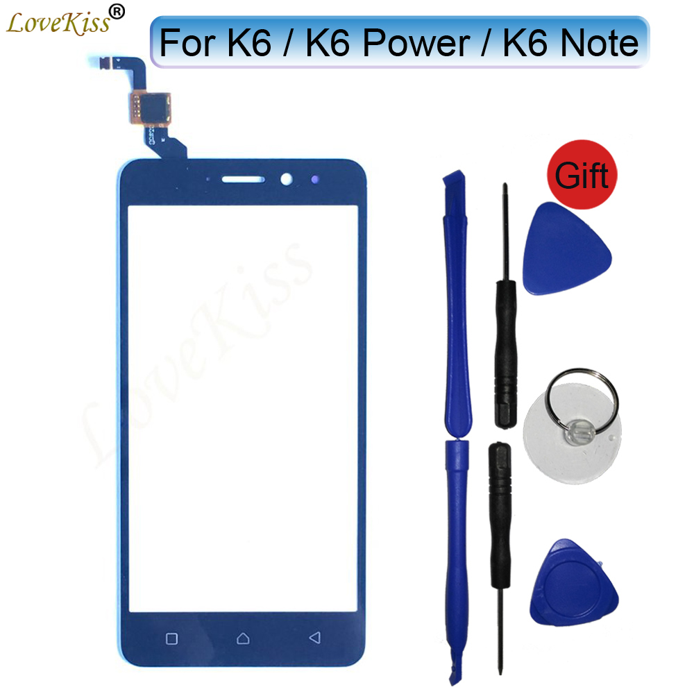 Front Panel For Lenovo K6 Power Note K6Note K6Power K53a48 K33a42 Touch Screen Sensor LCD Display Digitizer Glass TP Replacement