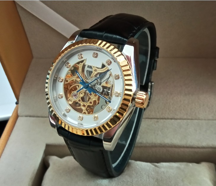 Здесь можно купить  37mm Luxury watch M182SK Automatic Self-Wind movement Limited Edition hollow out true Cowhide strap Men
