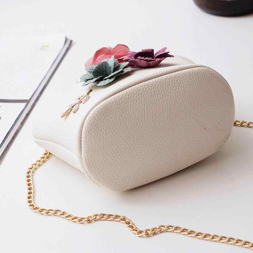 ... Women Fashion Stereo Flowers Shoulder Bag Ladies Small Vintage Tote Bag  Purse Chain Handbag Messenger Bag ... ff0d588252855