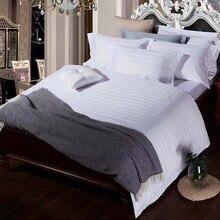 pure color white Luxury Bedding Set Five Stars Hotel 100% cotton Duvet Cover Set King Queen Size Hotel Bedding flat Sheets Set 1pc five star hotel bedding pillow 100