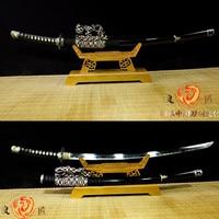 Hand made  9260 spring Steel Blade Tachi Japanese Sword Battle Ready Katana Full Tang