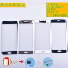 For Samsung Galaxy S6 edge G925 SM-G925V SM-G925P G925F G9250 Touch Screen Front Glass Panel Outer Glass Lens NO LCD цена 2017