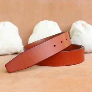 Image 5 - Sem fivela de 3.3 cm e 3. cintos de 8cm para homens de alta qualidade fivela de pino cinta masculina cintura de couro genuíno ceinture homme