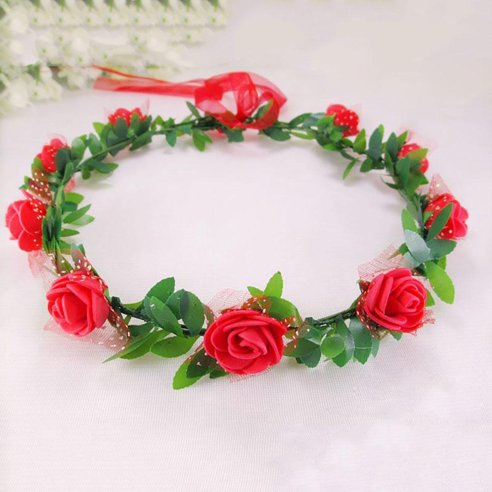Handmade Flower Crown Delicate Head Wreath Wedding Bride Girl