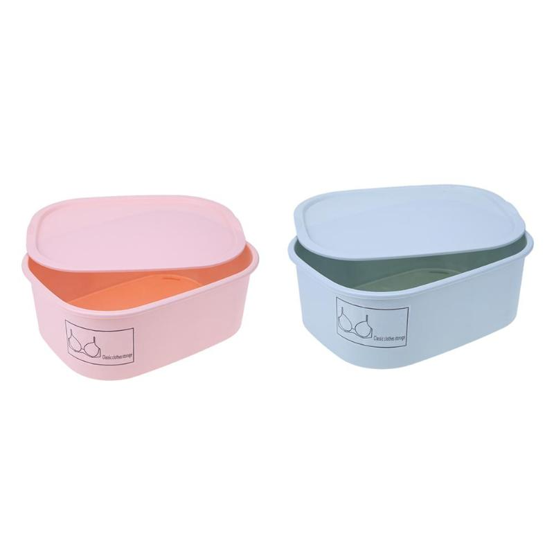 2 Colors Underwear Bra Organizer Storage Box Drawer Closet Organizers Boxes For Underwear Scarfs Socks Bra