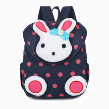 New Hot sale Cute 3D Dot Rabbit Toddler backpack softback korean mini Schoolbag Kids kindergarten baby girls Gifts Mochila 1-3(China)