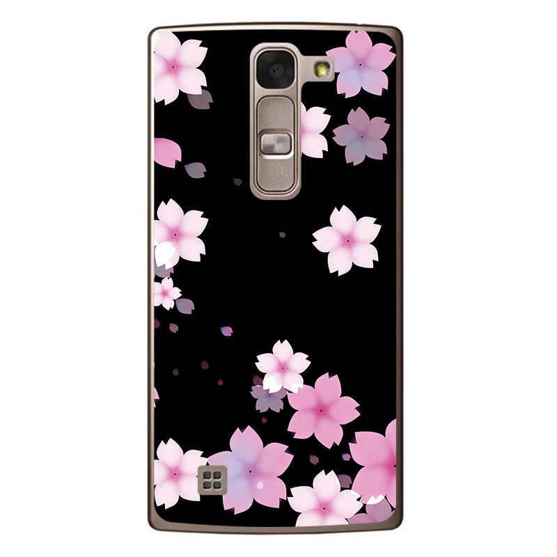 أنا وحدها الهاتف قذيفة ل LG ماجنا H502F 5.0 بوصة الصلب البلاستيك الملونة أزياء لطيف زهرة الهاتف المحمول الحالات ل LG H500F