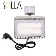 Led Capteur de Mouvement de la lumière D'inondation 50 W 30 W 110 V 220 V Cree Led projecteur Réflecteur Étanche PIR Projecteur lampe éclairage Extérieur