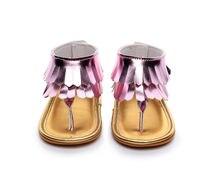 Pudcoco 0-12M First Walker Baby Shoes Toddler Newborn Baby Girl Tassel Summer Shoes Anti-Slip Flip Flop Prewalker