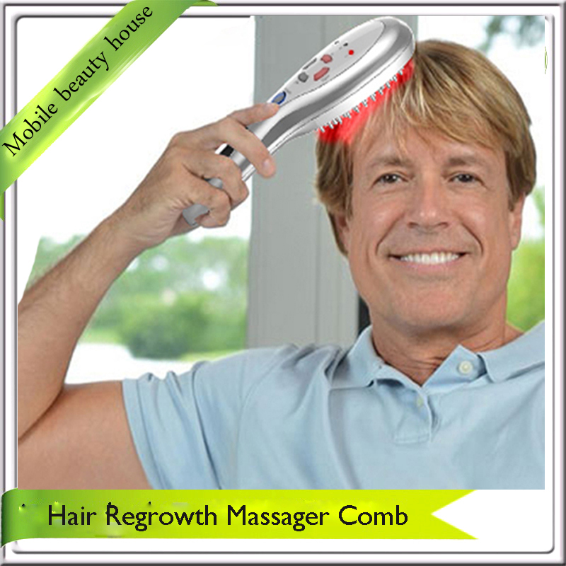Rechargeable Electric Laser Hair Stimulation Restoration Massager Comb Kit For Men And Women Hair Loss Treatment