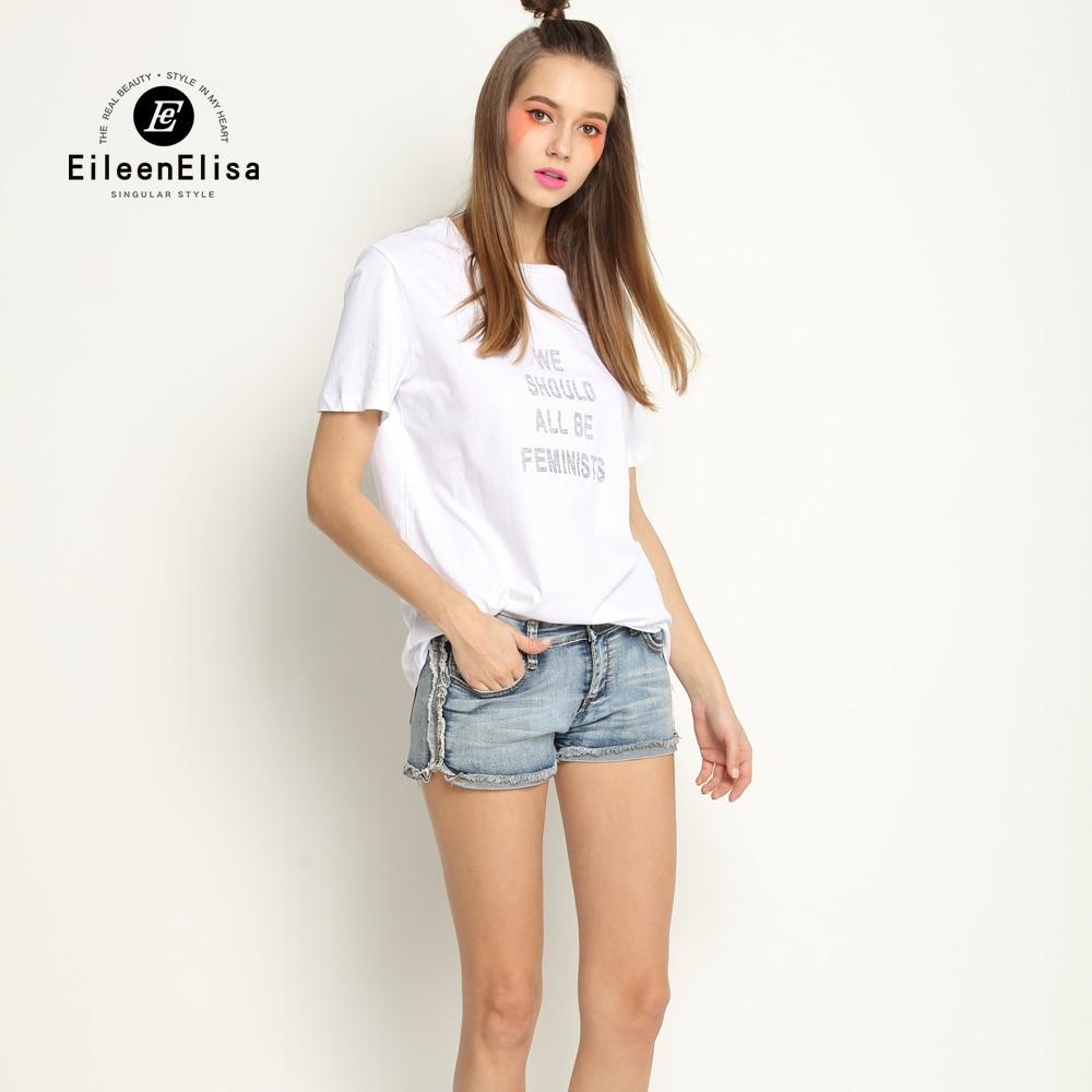 Free Shipping Eileen Elisa T Shirt Women 2017 Designer T ...