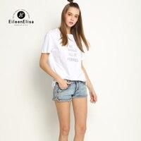 Free Shipping Eileen Elisa T Shirt Women 2017 Designer T Shirt Fashion White Cotton Woman Feminist T Shirt Luxury Brand